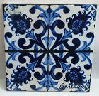 Portuguese old vintage reproduction 17 cm or 7 inches  blue CERAMIC TILE LOT 2