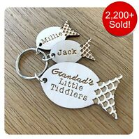 Personalised Fathers Day Gifts For Grandad Grampy Daddy Dad Fish Keyring Gifts