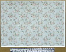 1:12th dolls house self adhesive vinyl - A4  - 'Pink roses pattern' wallpaper