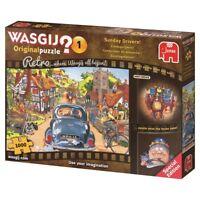 Wasgij Puzzle 1000 Piece Sunday Drivers Cars Retro Original Jigsaw Jumbo #1