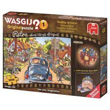 Wasgij Puzzle 1000 Piece Sunday Drivers Cars Retro Original Jigsaw Jumbo #1 1