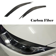 For Honda Civic 2015-2016 Headlight Eyebrows Eyelids Carbon Fiber Refit 2PCS