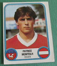 N°268 PATRICE MONTEILH FC ROUEN FCR PANINI FOOTBALL 83 1982-1983