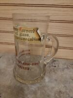 VINTAGE HARVARD UNIVERSITY GLASS BEER MUG - HERE'S TO JOHNNY HARVARD