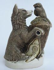 Harmony Kingdom Peace Summit 1998 Trinket Box Figurine Wolf & Beaver