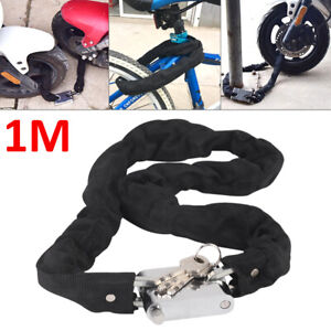 1M Heavy Duty Motorbike Motorcycle Bicycle Chain Lock Padlock Bike Cycle Moped