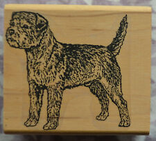 Dog Breed Rubber Stamp * Border Terrier Standing * Used
