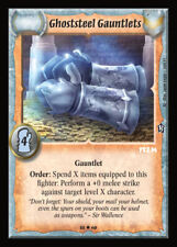 Warlord CCG - Warlord Saga of the Storm: Ghoststeel Gauntlets (Fixed ALD2P)