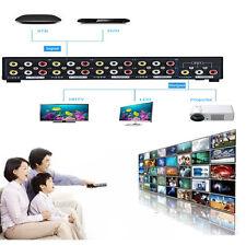 1x8 Port Splitter Composite 3RCA AV Video Audio Switch Switcher for HDTV DVD EP