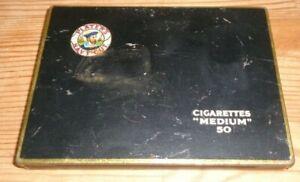 Vintage Players Navy Cut 50 Medium Cigarettes Tin & Lid John Player & Sons