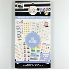 The Happy Planner Teacher Icons Big Sticker Book Pack Of 737 Me & My Big Ideas