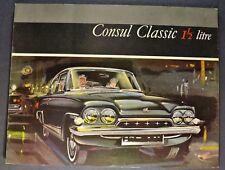 1963 Consul Classic English Ford Catalog Brochure Excellent Original 63