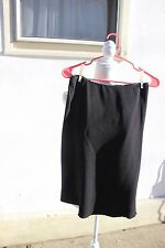 VTG TAHARI BERGDORF GOODMAN PENCIL SKIRT w/Side Flair Unlined BLACK NEVER WORN