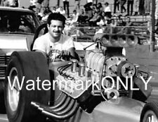 """Chris """"the Greek"""" Karamesines in his 1965 """"ChiZler"""" Top Fuel Dragster PHOTO!"""