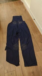 Ladies Or Mens Use Navy Blue Colour Bib And Brace Dungarees Overalls.