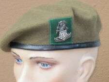 Barett:Yorkshire Regiment,stationiert in Münster,Gr. 56,Beret Wool,khaki/green