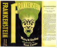 Facsimile reprint dustjacket for 1932 FRANKENSTEIN by Mary W Shelley NINO CARBE