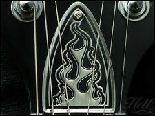 """FLAMES"" 100% Brass Diecast Truss Rod Cover. Fits most PRS style (US models)."