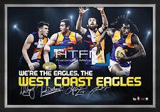 West Coast Eagles Four Player Facsimile AFL Official Licensed Print Framed