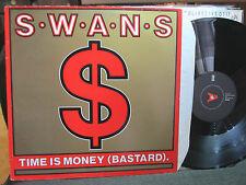 "SWANS Time Is Money (Bastard) ORIG VINYL 12"" K.422 goth industrial 1985 synth EP"
