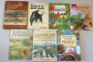 How to Draw and Paint People Birds Cars Faeries Landscape Manga Lot of 14 Books