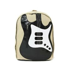 Far Nine Musically Inspired Electric Guitar Canvas Backpack Sachel Bag
