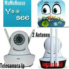 IP CAMERA WI-FI TELECAMERA P2P CON DUE ANTENNE VISIONE IN HD VISIONE NOTTURNA