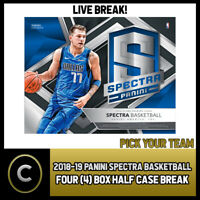 2018-19 PANINI SPECTRA BASKETBALL 4 BOX (HALF CASE) BREAK #B146 - PICK YOUR TEAM