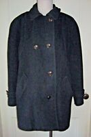 Vintage MacKintosh Double Breasted Cape Top Wool Peacoat Car Coat Womens 8 USA