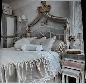 French Chateau Crown Bed Canopy with Hooks Exquisite Grand Statement Piece