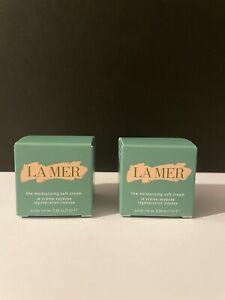 2x La Mer the Moisturizing SOFT Cream Deluxe Size 7ml (14ml Total) Authentic New