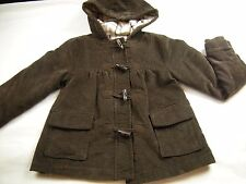 Girl size M 7 8 Brown pink plaid fleece lined warm Coat Jacket OLD NAVY