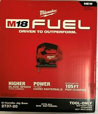 Milwaukee 2737-20 M18 Fuel D-Handle Jig Saw New in box