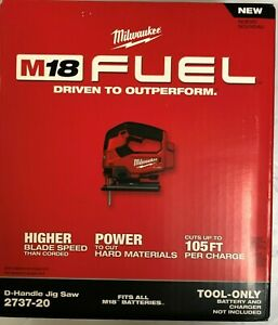 Milwaukee 2737-20 M18 Fuel D-Handle Jig Saw New in box 2 DAY SHIPPING