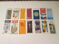 Lot of 14 Union 76 Arco Sinclair Chevron AAA Sohio Gas Station Travel Road Map