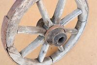 Old Antique Primitive Wagon Wheel Wooden Wood Spoke Wheel Cart Rustic Farm 19th.