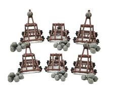 6 Pieces Medieval Catapults with Boulders for Castle Wars