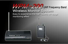 WPM200 UHF Wireless In Ear Headphone Stage Monitor System Transmitter+Receiver