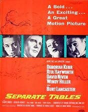 SEPARATE TABLES 1959 Deborah Kerr, Rita Hayworth, David Niven TRADE ADVERT