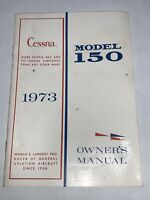 Cessna 1973 MODEL 150 Aerobat Owners Manual Cessna Aircraft Company - Ships Free