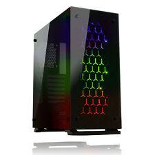 GIOCO Max Onyx RGB Mid tower ATX 3 x ventole RGB VETRO TEMPERATO lati & Anteriore USB 3