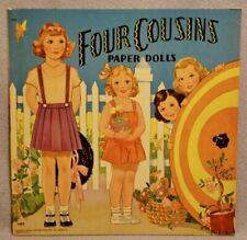 1941 Four Cousins Paper Doll Book - Saalfield - Rare Unused Original
