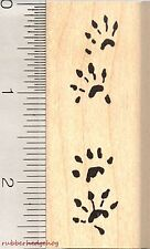Ferret Paw Prints Rubber Stamp, Weasel Tracks E2410 WM
