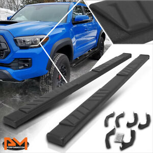 """For 05-20 Tacoma Double(Crew) Cab 5"""" Side Step Nerf Bar Flat Running Board Black"""