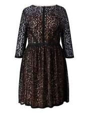 NEW Size 16 Black Lace Skater Dress Gemma Collins Cocktail Party Goth Rock Boho