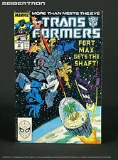 THE TRANSFORMERS #39 1987 Marvel Comics US G1 Fortress Maximus Shockwave 181101d