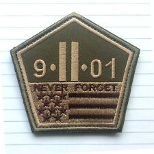 9/11 Never Forget Patch Morale Military 911 Twin Towers Forset Tactical Badge