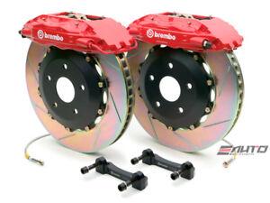 Brembo Rear  GT Brake BBK 4pot Red 380x32 Slot Escalade Chevy GMC 1500 07-14