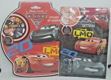 1x CARS tatouages temporaires Garçons Stocking Remplissage Disney sur le thème Fun Pocket Toys