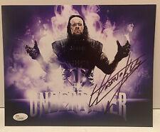 Undertaker Signed WWE 8X10 JSA COA